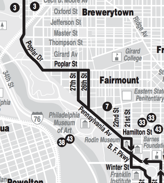 Route 32 map section